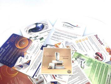 Изготовление листовок для фармацевтической компании — 80000 экз.