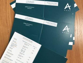 Печать и вырубка картхолдеров А6 — тираж 60000 экз.