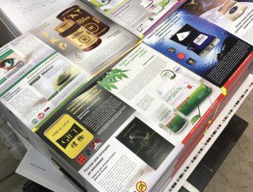 Офсетная печать — буклеты, листовки — заготовки 10000